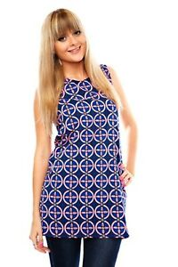 LADIES 60's STYLE MOD DRESS TWIGGY VINTAGE PRINT RETRO MINI TUNIC SHIFT CASUAL