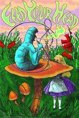 Caterpillar Hookah   Feed Your Head Poster   24X36 Shrink Wrapped   Alice 3002