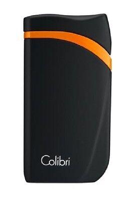 COLIBRI Feuerzeug Falcon schwarz/orange Jet mit Schrägflamme NEU OVP