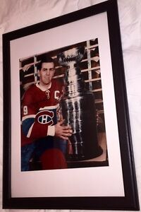 Maurice Richard Signed Montreal Canadiens 16x20 Framed. Dec