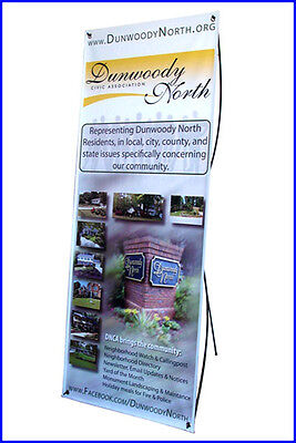 X Banner Stand W24xh64 With Free Printing Trade Show Display