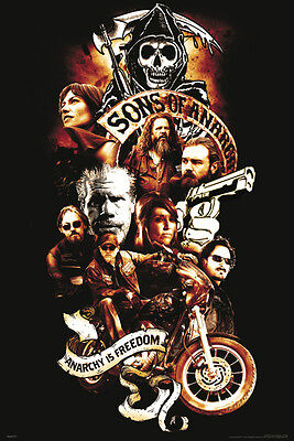 Sons Of Anarchy Collage Anarchy Is Freedom Motorcycle Club Outlaws Reaper New