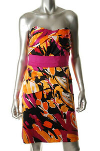 New Phoebe Couture Print Strapless Cocktail Prom sz 14 12