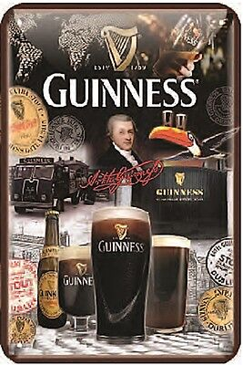 Guinness Over 250 Years embossed metal sign 300mm x 200mm (sg)