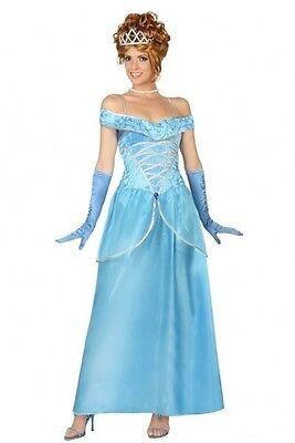 Costume Woman PRINCESS Blue XL 44 Conte Fairy Drawing Cartoon NEW cheap - Cheap Adult Fairy Costume