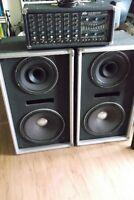 Peavey Mixer Amp XR-600B + colonnes
