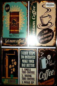 8 x 12 inch- Coffee Ads/Memes Tin Wall Sign