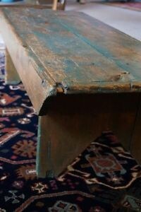 """Antique farmhouse bench - authentic (not """"shabby chic"""")"""