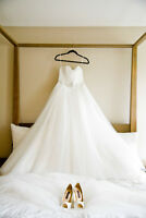 Beautiful all tulle wedding gown