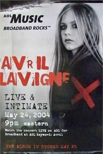 AVRIL LAVIGNE ~ LIVE INTIMATE ~ 24x36 ORIGINAL CONCERT PROMO POSTER!