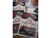63x Manchester United Review Programmes 1983-1985