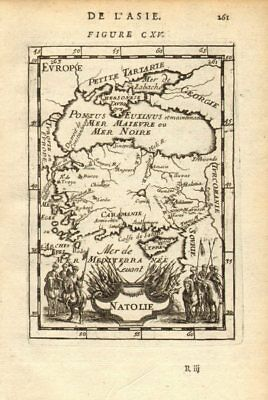 ANATOLIA 'Natolie' Asia Minor Turkey. Black Sea Cyprus Rhodes. MALLET 1683 map