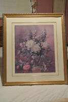 """Framed Picture of Flowers - 31"""" wide x 32.25"""" high"""