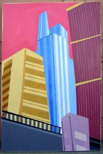 Painting- Cityscape of portrait of Chicago
