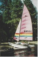 "1986 Hobie Cat ""Nationals"" sailboat"