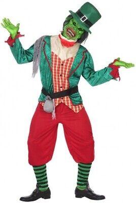 Erwachsene Herren Damen Zombie Goblin Halloween Horror Kostüm Kleid Outfit (Goblin Halloween Kostüm)