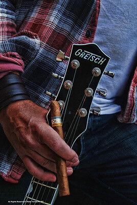 GRETSCH BLUES GUITAR & COHIBA Metall Schild schwer USA Semi Gitarre Chet Atkins