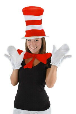 Kit Kat Costume (Dr. Seuss Cat In The Hat Cat Costume Accessories Kit for Adults NEW)