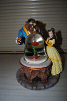 Rare Beauty & The Beast ENCHANTED ROSE Musical Snow globe