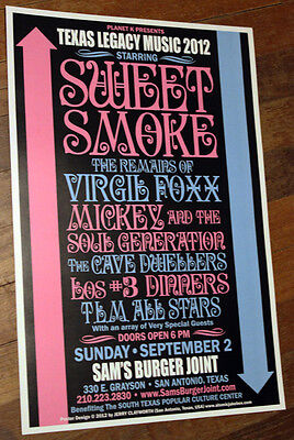 Sweet Smoke Mickey   The Soul Generation Concert Poster  Texas And Northern Funk