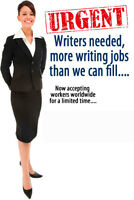 Talented Writers Needed (Full Time and Part Time)
