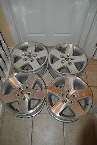 "Used 17"" 17 inch high-performance OEM aluminum Jeep rims"