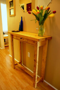 Rustic Console Table @ www.handbuiltfurniture.ca