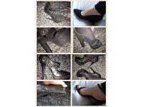 Well worn heels/boots