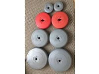 Concrete weights - 43Kg in total