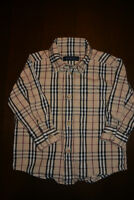Authentique chemise BURBERRY taille 12 mois