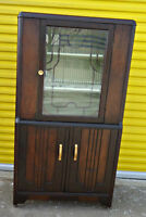 Antique display cabinet/hutch, solid, refurbished (delivery)