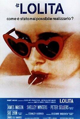 Lolita 1962 S. Kubrick POSTER film 70x100 Ristampa ufficiale Italiana Rarità