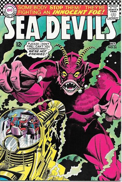 Sea Devils Comic Book #31, DC Comics 1966 VERY FINE-
