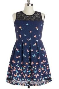 Navy Origami Dress by trollied dolly