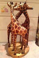Wooden Giraffe sculpture