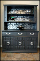 Stunning Hand Painted Hutch