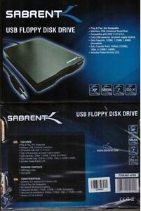 Sabrent 1.44MB External 3.5'' USB 2XFloppy Disk Drive New In Box