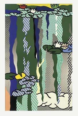 Roy Lichtenstein, Water Lilies with Cloud, 1992 Screenprint Signed/Numbered