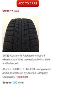 Winter package (tires on wheels) for 2016 Audi A 3.  Peterborough Peterborough Area image 2
