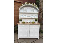 Vintage White Welsh Dresser ~ Shabby Chic Sideboard