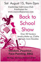 Vendors needed August 15 Back to School Show