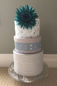 3 Tier Diaper Cake by Ava May Diaper Cake Co.
