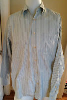 ERMENEGILDO ZEGNA Striped Button Down Dress Casual Shirt M