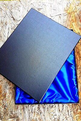 "8"" x 10"" Black Regal Large Presentation Box Satin Lining Gift Box Clothing Box"