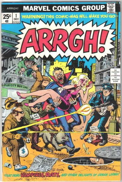 ARRGH! Comic Book #1, Marvel Comics Satire 1974 FINE-