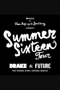 2 tickets to Drake + Future! Great Seats