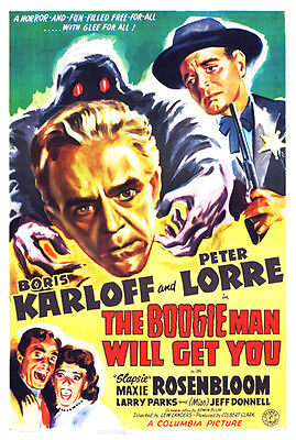 The Boogie Man Will Get You - 1942 - Movie Poster  ](Boogie Man Movie)