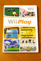Jeu Wii Play incluant le livret d'instruction.