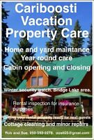 Vacation and Rental Home Caretakers, Bridge Lake B.C. 250-593-01