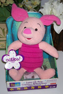 Love to Hug Talking Piglet from Winnie the Pooh Collection